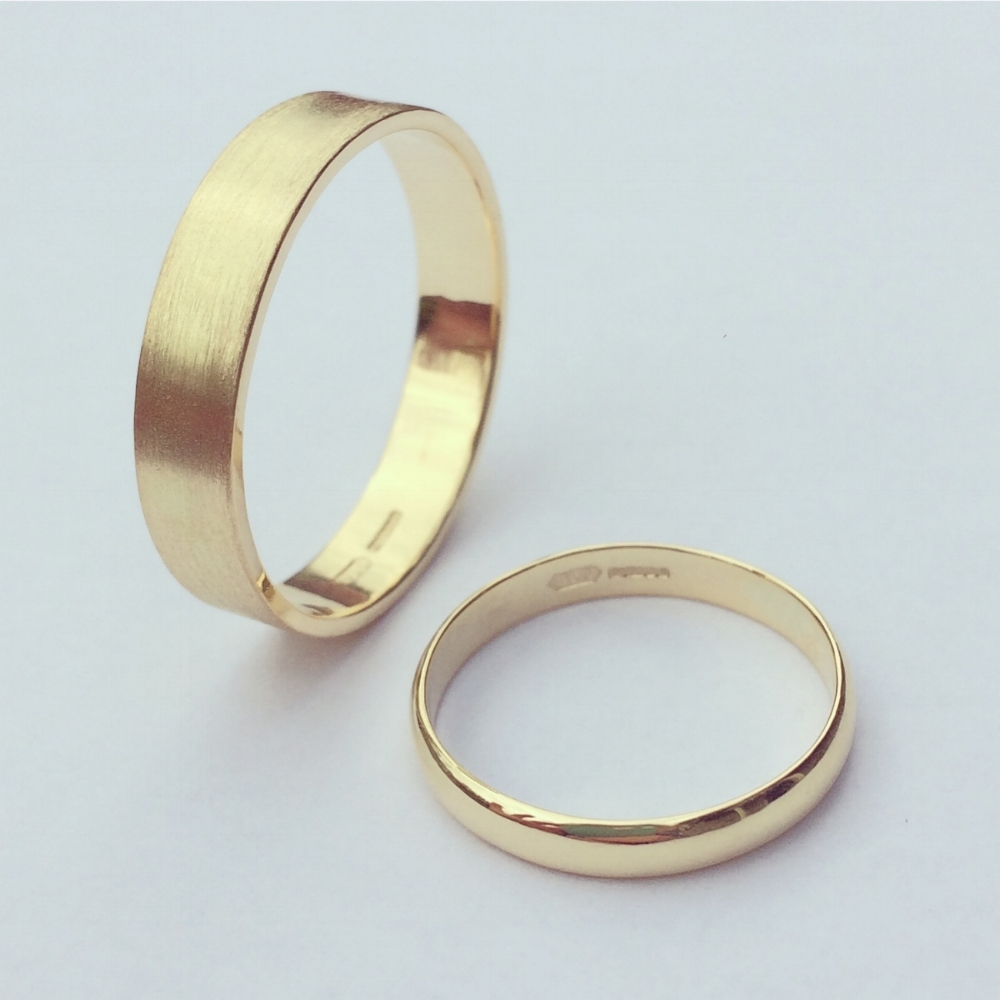 Recycled Gold Wedding Bands for Gerli and Karl