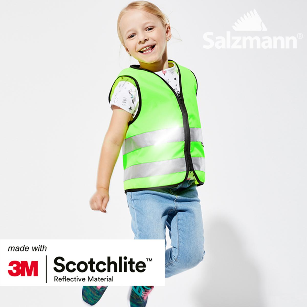 kid's high visibility reflective safety vest 3m scotchlite