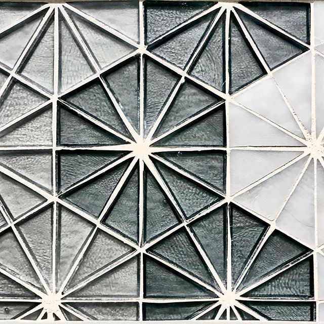 How stunning is this tile? I think it will shine in our client's walk-in master shower walls, don't you? Hope they like,... no, LOVE! #masterbathroom #glasstile #showerdesign #interiors #mcbridedesign