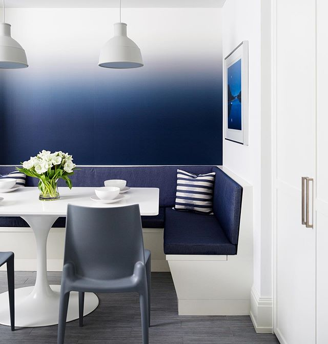 We hope you are all staying as cool as this blue in today's summer heat! 🔷🔷🔷 Architecture by : @lichtenarchitects  Interior design by: @annechessin  Photography by: @brittanyambridge . . . . . . . . . . . #bluekitchen #blue #kitchenseating #kitchen #kitchennook #dinner #breakfastnook #architecture #design #interiordesign #interiors #ues #KevinLichten #architects #details #apartment  #residentialarchitecture #moderndesign #instaarchitecture #newyorkapartment #nyc #ues #beautifuldesign #nycliving #archilovers #architecturelovers  #architecturalphotography #architecturaldetail