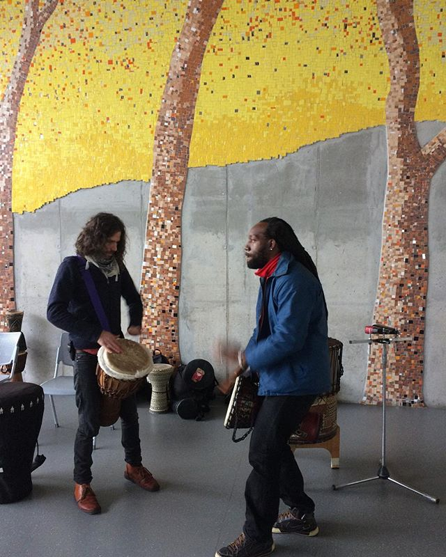 James and Baka at Isivivana Centre in Khayelitsha on 14 June 2018 for London School Of Economics