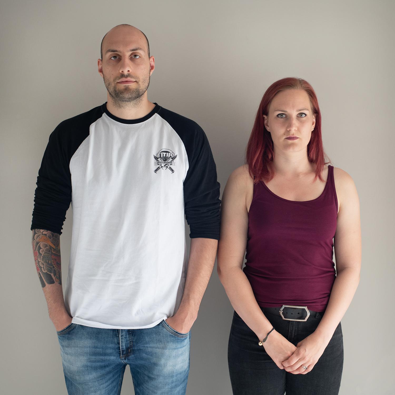 Sasha and Svenja / couple, both working as police officers, meet at work / Germany, Osnabrück