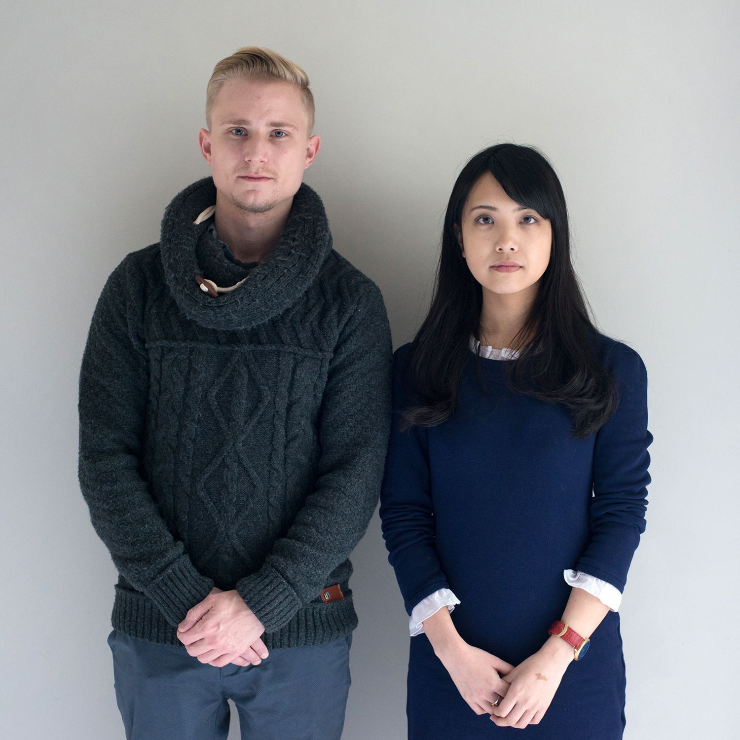 Benjamin and Yuka, couple, Benjamin is German and lives in Japan, Yuka is Japanese and lives in Germany