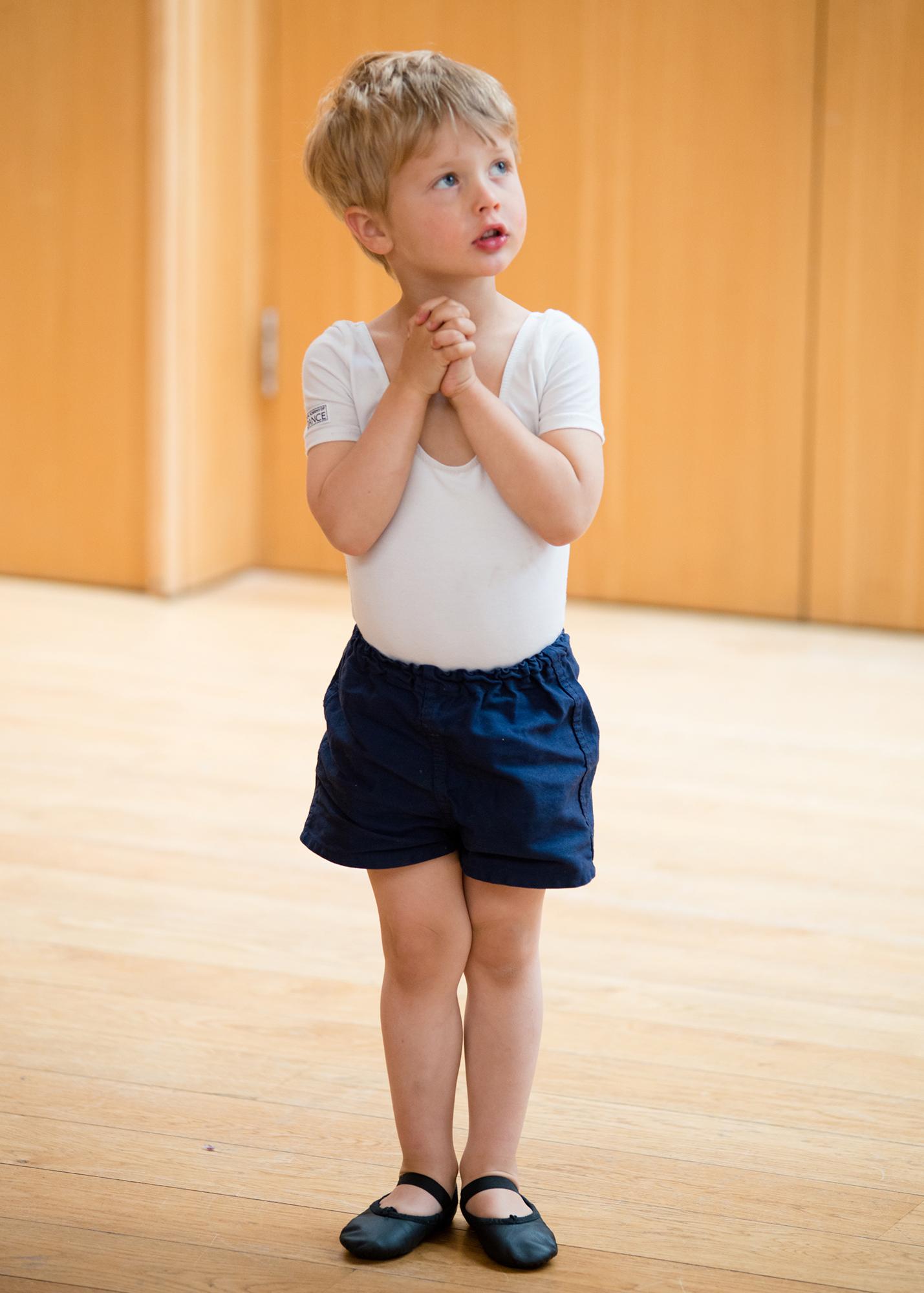 Ballet Boy in first position