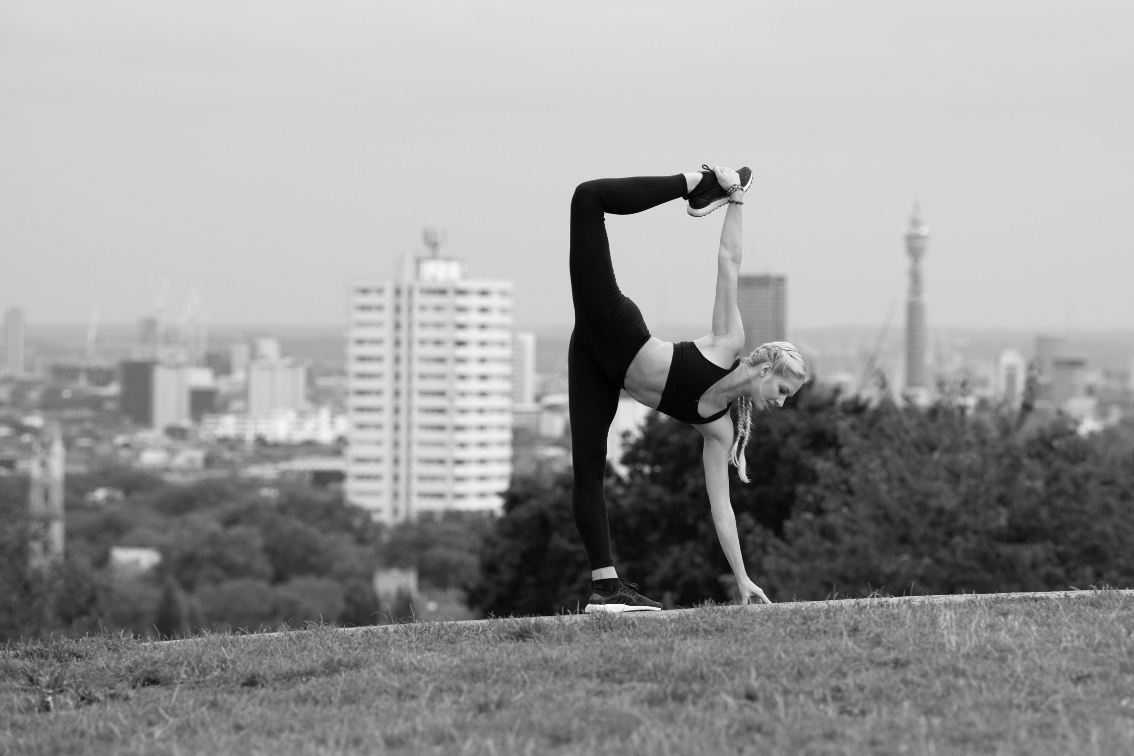 Model: Mercedes Schindler  Photographer: Karolina Webb  Outfit: Sweaty Betty  Location: London