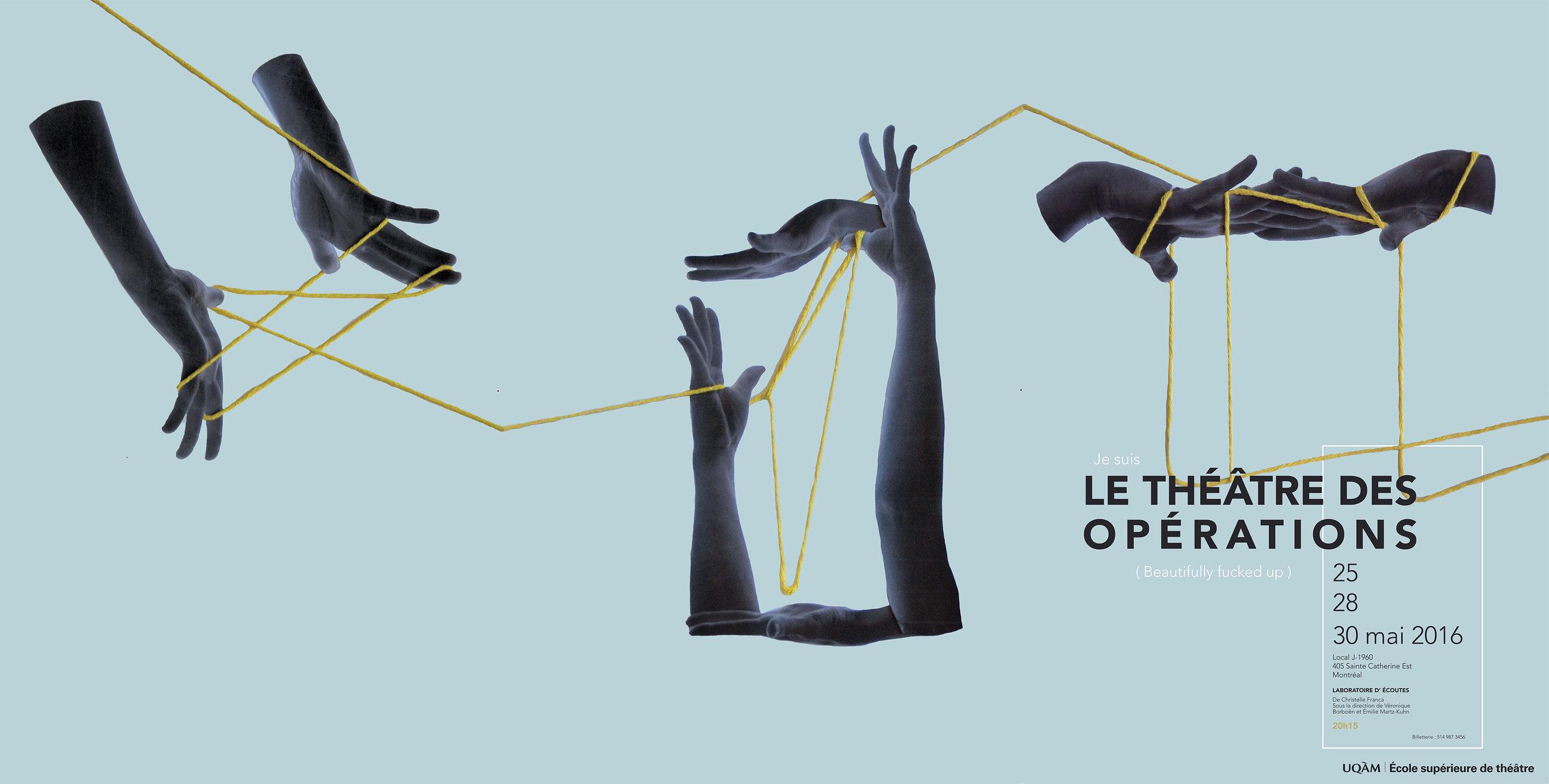 Affiche des perforrmances, realisée en collaboration avec Cecile Lebec.