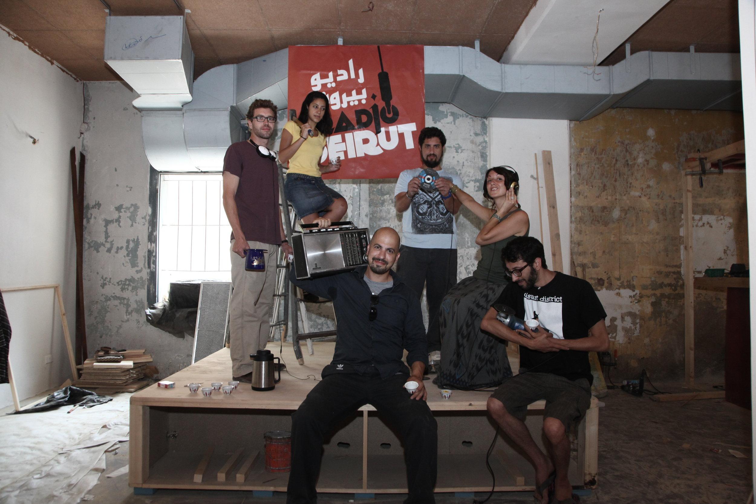 Photos de l'équipe initiale: création et lancement de Radio Beirut ( 2012)