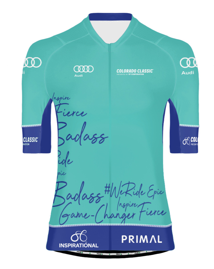 Audi Most Inspirational Rider - This is a jury-awarded jersey that is awarded to the racer who demonstrates the following during their race:Perseverance - Determined to reach their goal at all costsGrit - Does not let barriers stand in her wayDeep Dedication - Digs into emotional reserves beyond the average racer