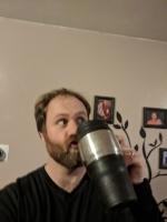This coffee mug is so fancy.