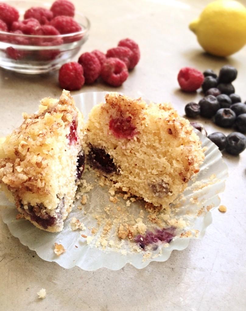 grain-free berry streusel muffin