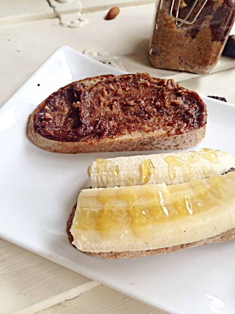 toast with fig butter and banana