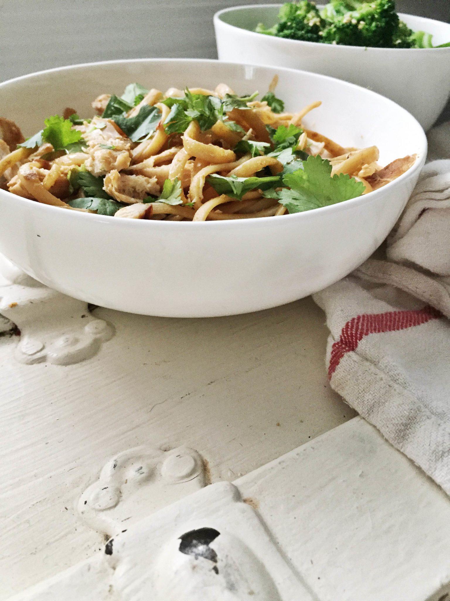 Peanut Chicken Noodle Bowls