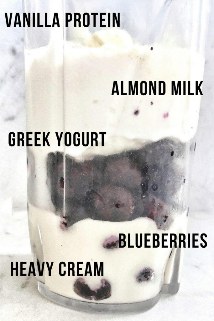 blueberries n' cream smoothie ingredients