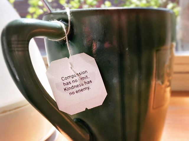 A little @yogitea wisdom today. A good reminder for #compassion and #kindness not only for others but for myself as I have been brutal to myself lately. I feel I haven't done enough for others and my life at the moment keeps me constrained. It's frustrating and I've been mentally and emotionally beating myself up, to the point that it's manifesting in my body. My back has been a mess, a bad belly and headaches. Anxiety attacks and my depression kicking in. #mentalhealth #careforyourself #breathe