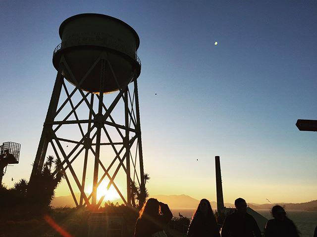Sunset on #alcatrazisland #vacation #california #sanfrancisco #summer2019