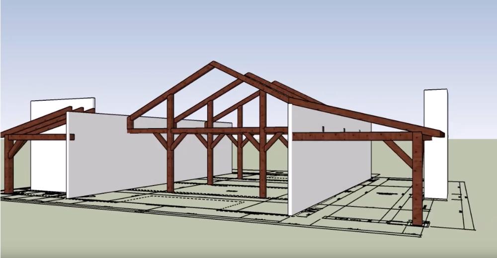Plan — New England Timberworks I Beam Home Designs on type of i beam designs, steel beam house designs, pallet home designs, roof designs,