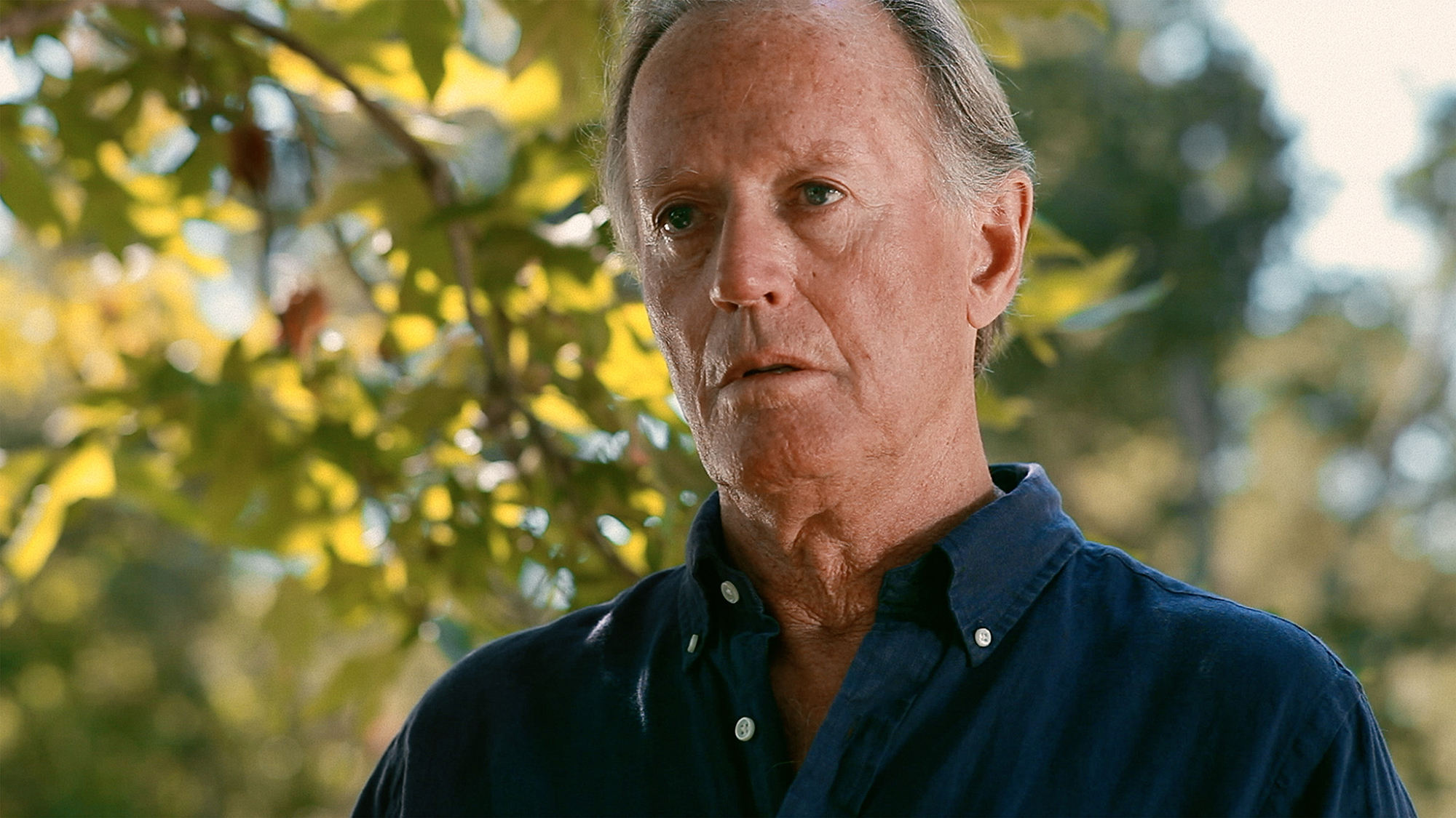 Peter Fonda as the reclusive author, Norman Bettinger, in The Magic Hours. The Magic Hours - a film by Zoey Taylor and David Connelly