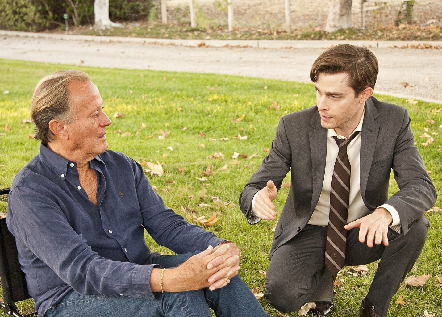 David Connelly directs Peter Fonda on the set of The Magic Hours The Magic Hours - a film by Zoey Taylor and David Connelly
