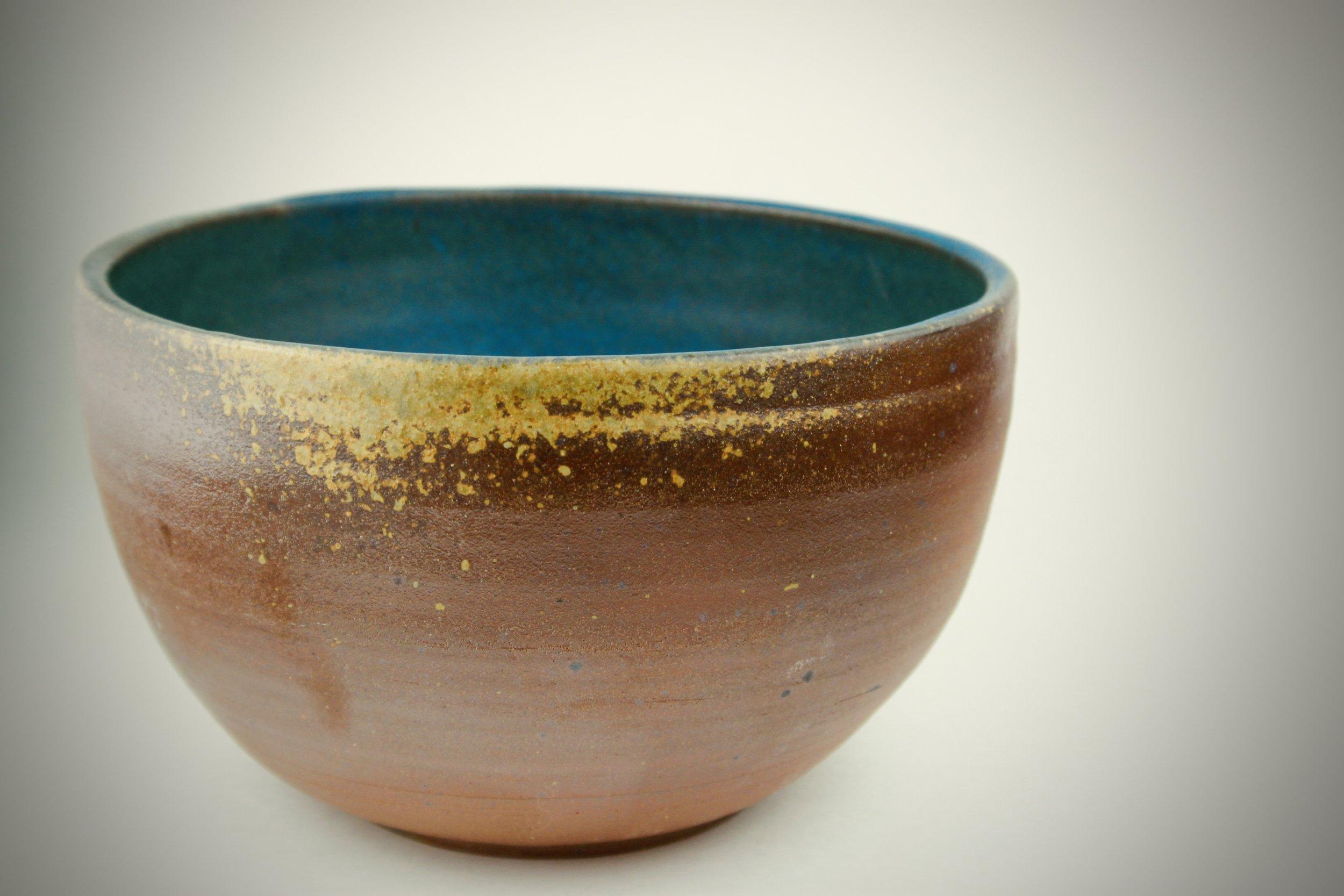 "Wood fired functional bowl. 12"" x 7"". Wheel Thrown"
