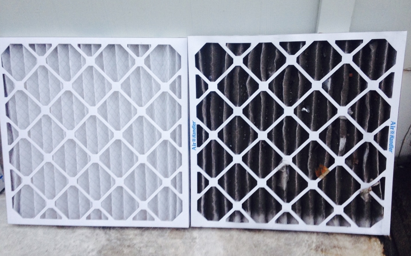 Filter replaced after only one week in HVAC unit one block away from General Iron.