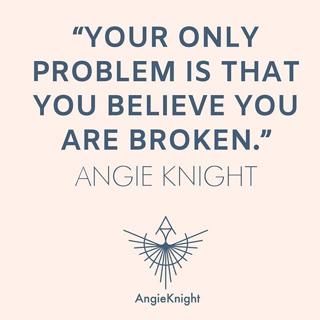 You are not broken. • But you made need safe spaces to discharge the hurts and release the false belief that you are unworthy. To be held is not the same as being fixed. • It is in these safe spaces that we can remember we have wings, find our own inner power, and fly! • Join me on my Facebook (Angie DeBoise Knight) tonight at 6pm for a live discussion about holding space vs giving advice, empathy vs sympathy, and power over vs power within. #angieknightyoga #remember your wholeness #timetofly
