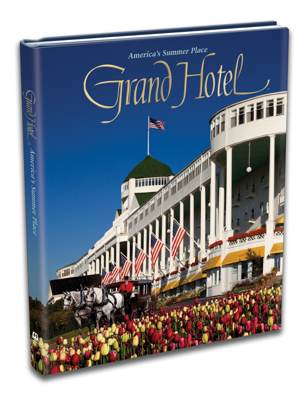 """Exceeding the Investment - Grand Hotel at Mackinac Island, Michigan celebrated its 125th Anniversary in 2012 by commissioning Grandin Hood to publish a commemorative coffee table book to mark the milestone event. It continues to be among the most popular mementos the Hotel sells today.From the initial order of 10,000 books, 1,000 were designated to be enhanced as """"Special Edition"""" copies, signed by the Grand Hotel's longtime and venerated owner. The signed books were offered as part of the 125th Anniversary package, which filled quickly.Additionally, during that first and the following six-month season, enough copies were sold to exceed their full investment. Over the course of six subsequent years, the book has enjoyed continued success as a VIP amenity gift and generated a handsome profit through brisk sales."""
