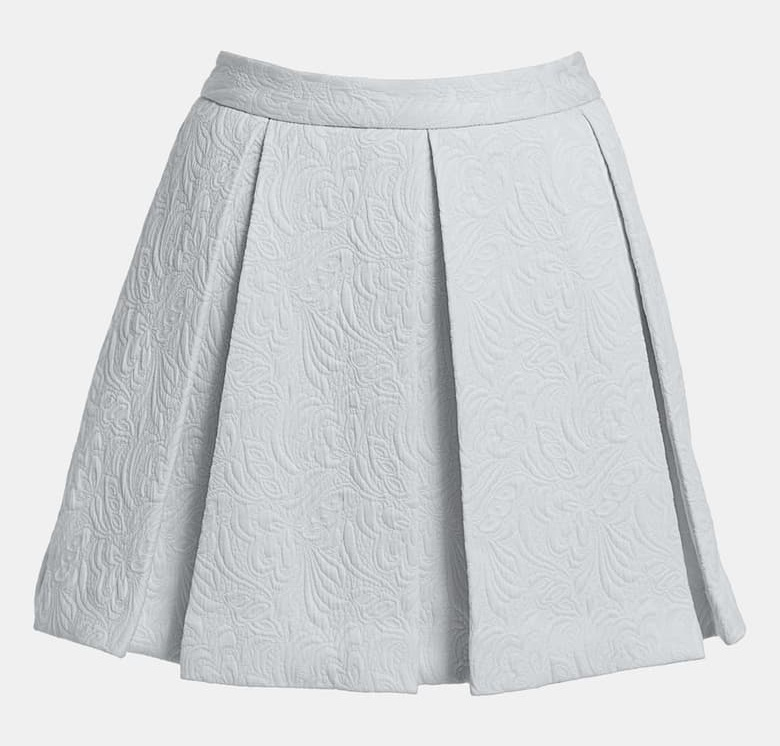 Regular box pleat. (Box pleated skirts are SO CUTE!)