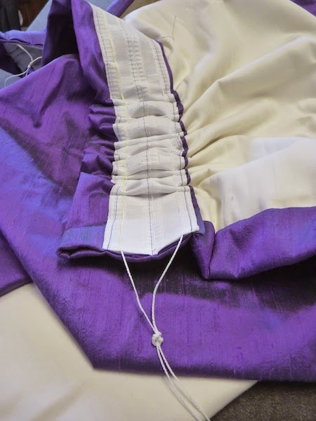 Personally, I think smocking should be reserved for cute dresses and skirts and be kept far away from drapery. Photo from  Mary Jo .