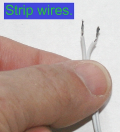 stripped wire ends