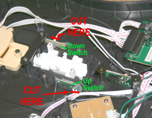 cut the wires as close as you can