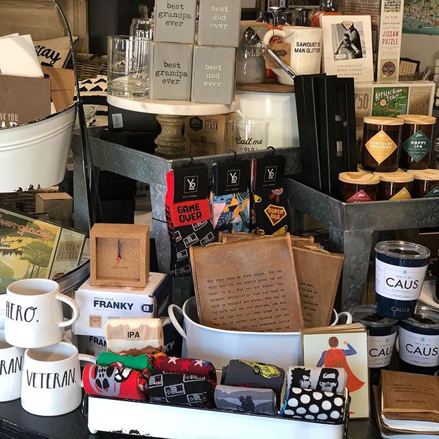 Don't forget about our Fathers Day gift section at the shop! Now everything on our Dad table is 15% off Now through Saturday!