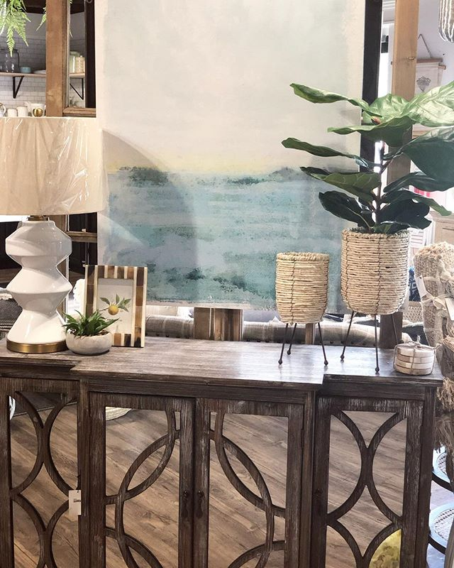 A lot of New home arrivals came in this week! Love how this space came together with our new lamp and rope stand planters!!