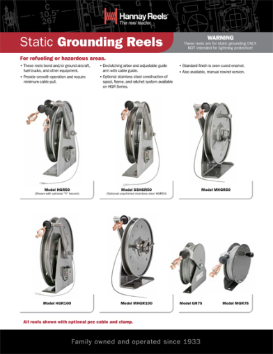 Static Grounding Reels