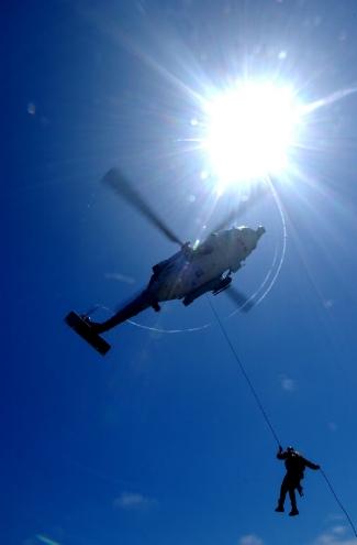 Veteran Navy EOD tech Battling PTSD and Depression ( HRST RAPPEL PIC )