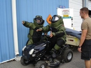 funny bomb tech riding lawn mower navy eod