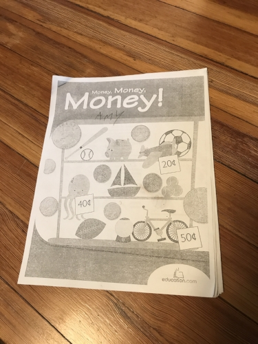 For me money has a deep connection.  We are taught that money is important at an early age. This was sitting on the table at my nieces house as I am editing this article.