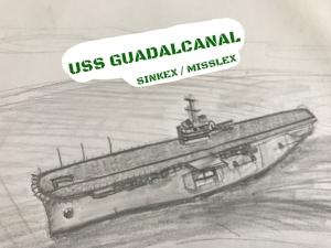 USS GUADALCANAL LPH-7 SINKEX MISSLEX DRAWING