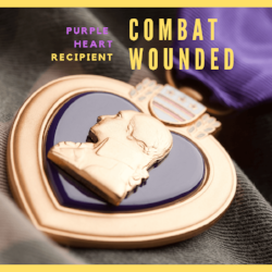 I'm a   Purple Heart    recipient