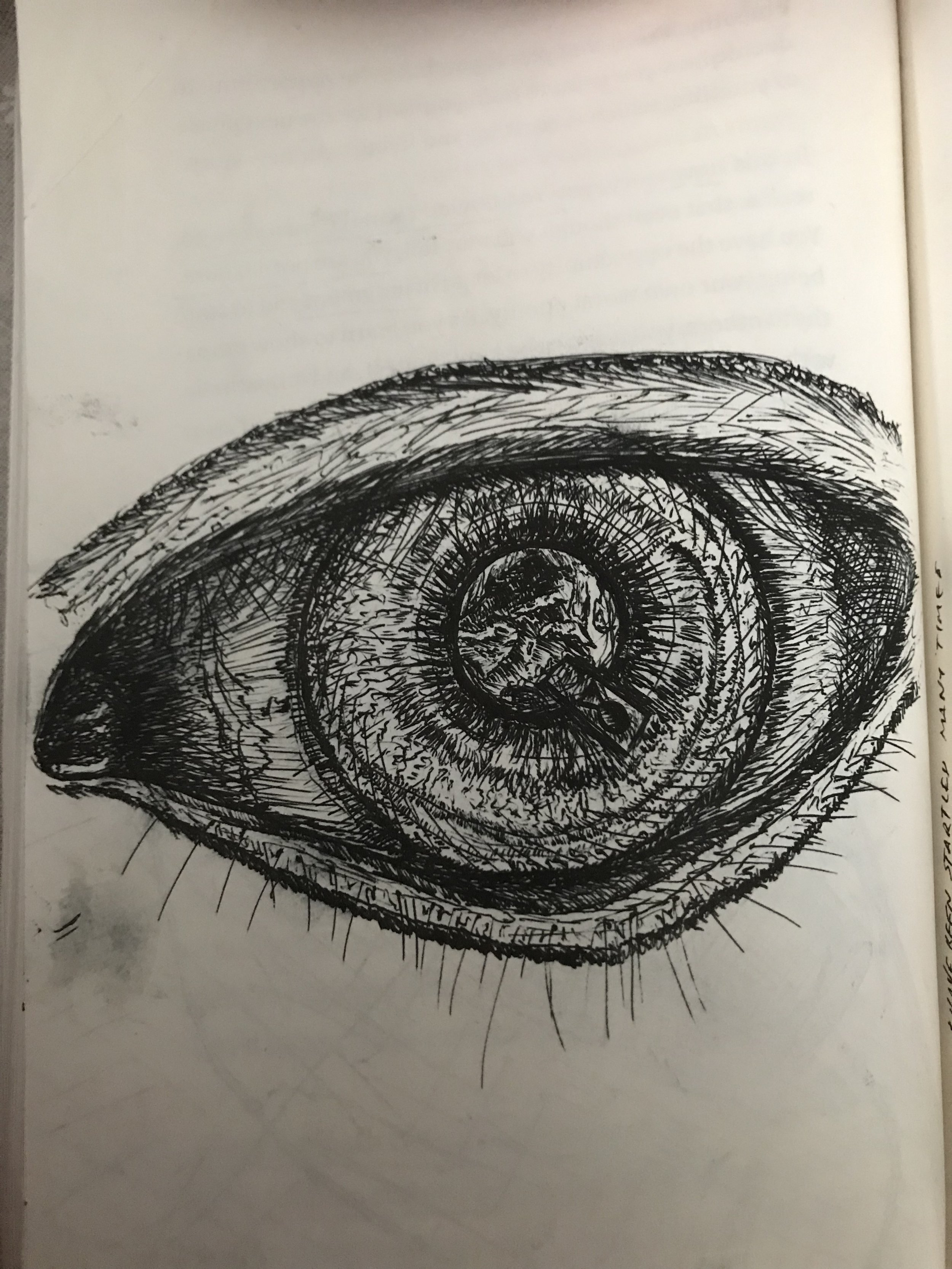 Eye of truth - Military veteran ptsd depression art therapy