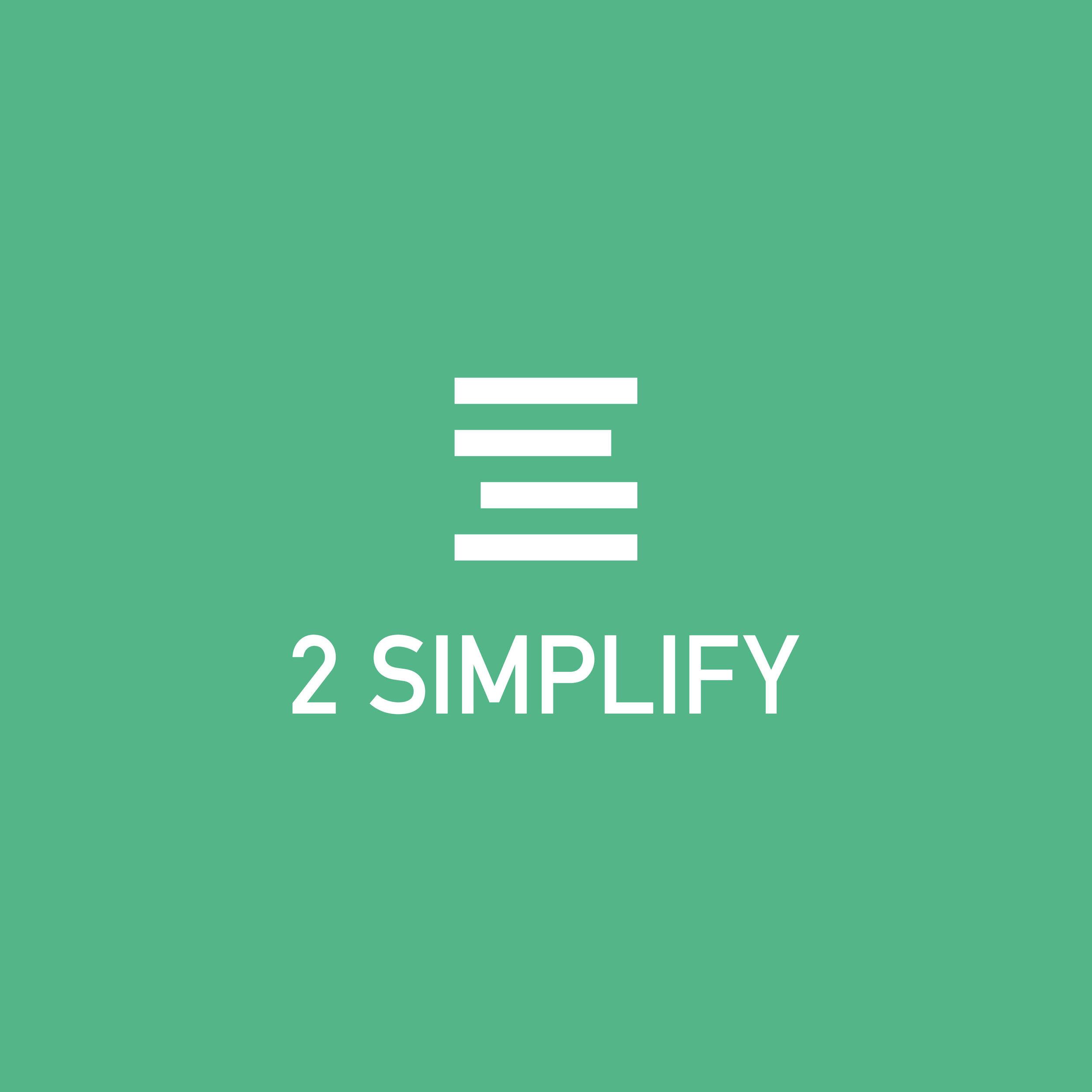 2 SIMPLIFY - 2 Simplify staat in voor de projectopvolging, het advies en de optimalisatie van bedrijven. Zo kunnen zij zich focussen op hun core business en brengt 2 Simplify alle bijkomende zaken in orde. Schoenmaker blijf bij uw leest!Ohja, spot jij eerst de S of de 2 in het logo?www.2simplify.be