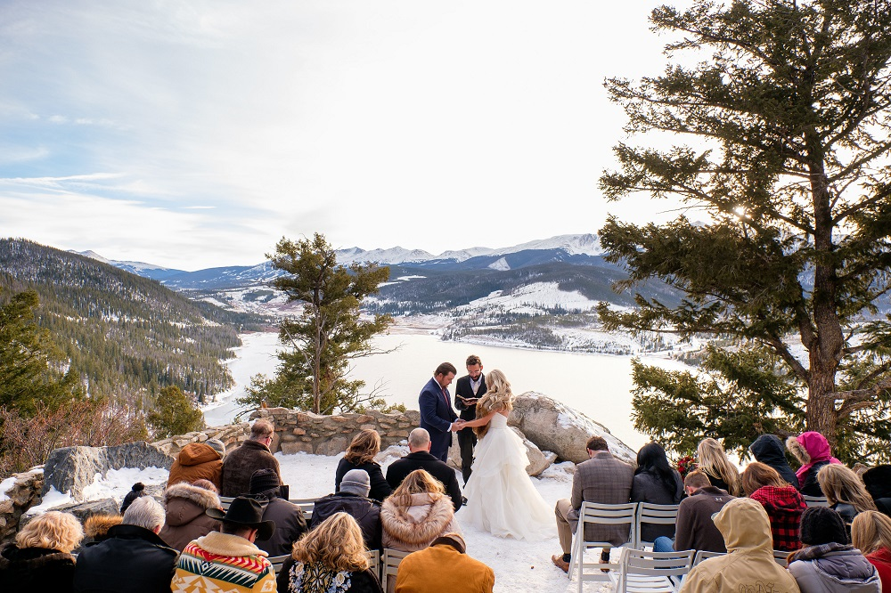 Solo flute wedding ceremony music at Sapphire Point in Dillon, Colorado