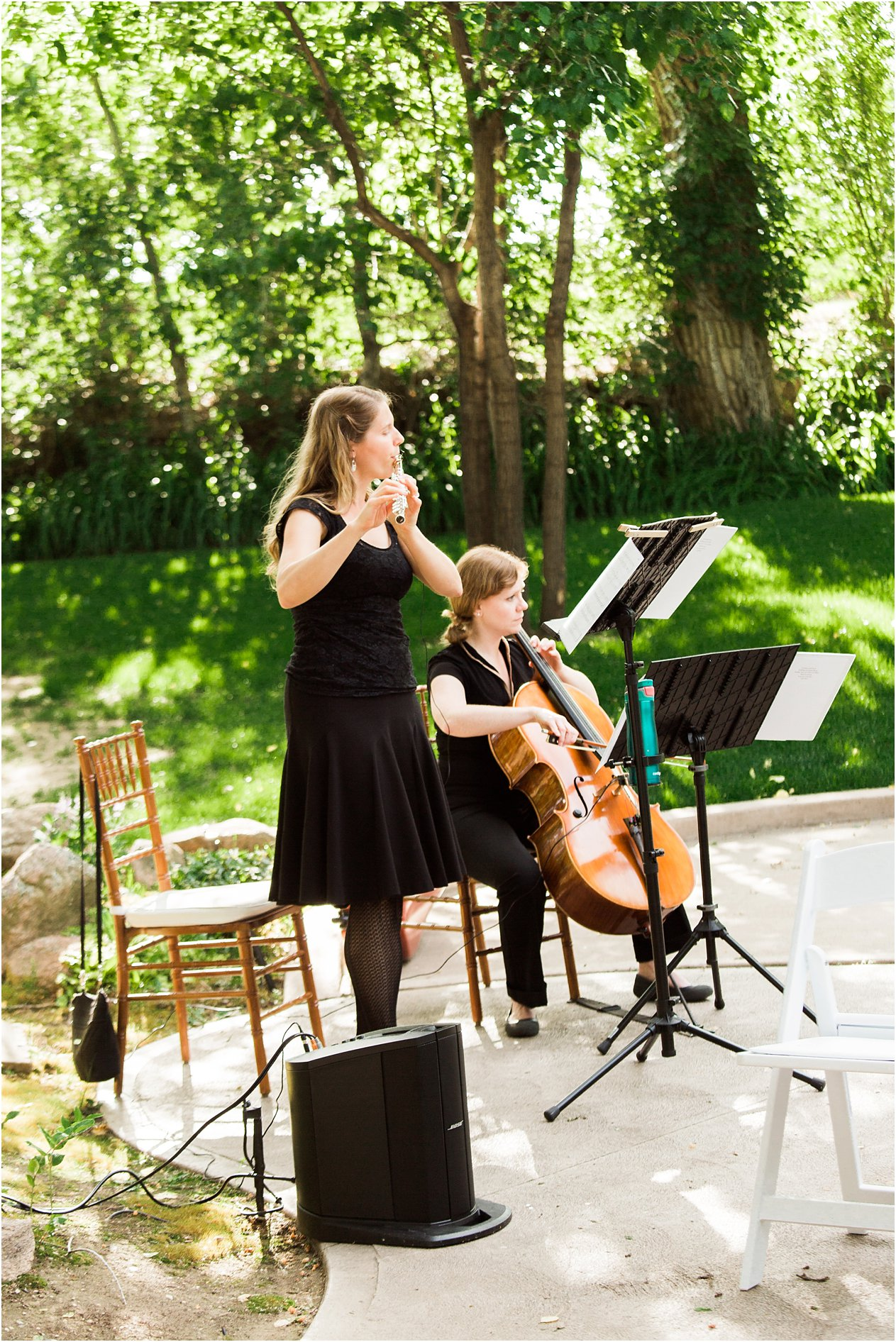 Flute and Cello duo in Fort Collins, Colorado, by Christen Stephens