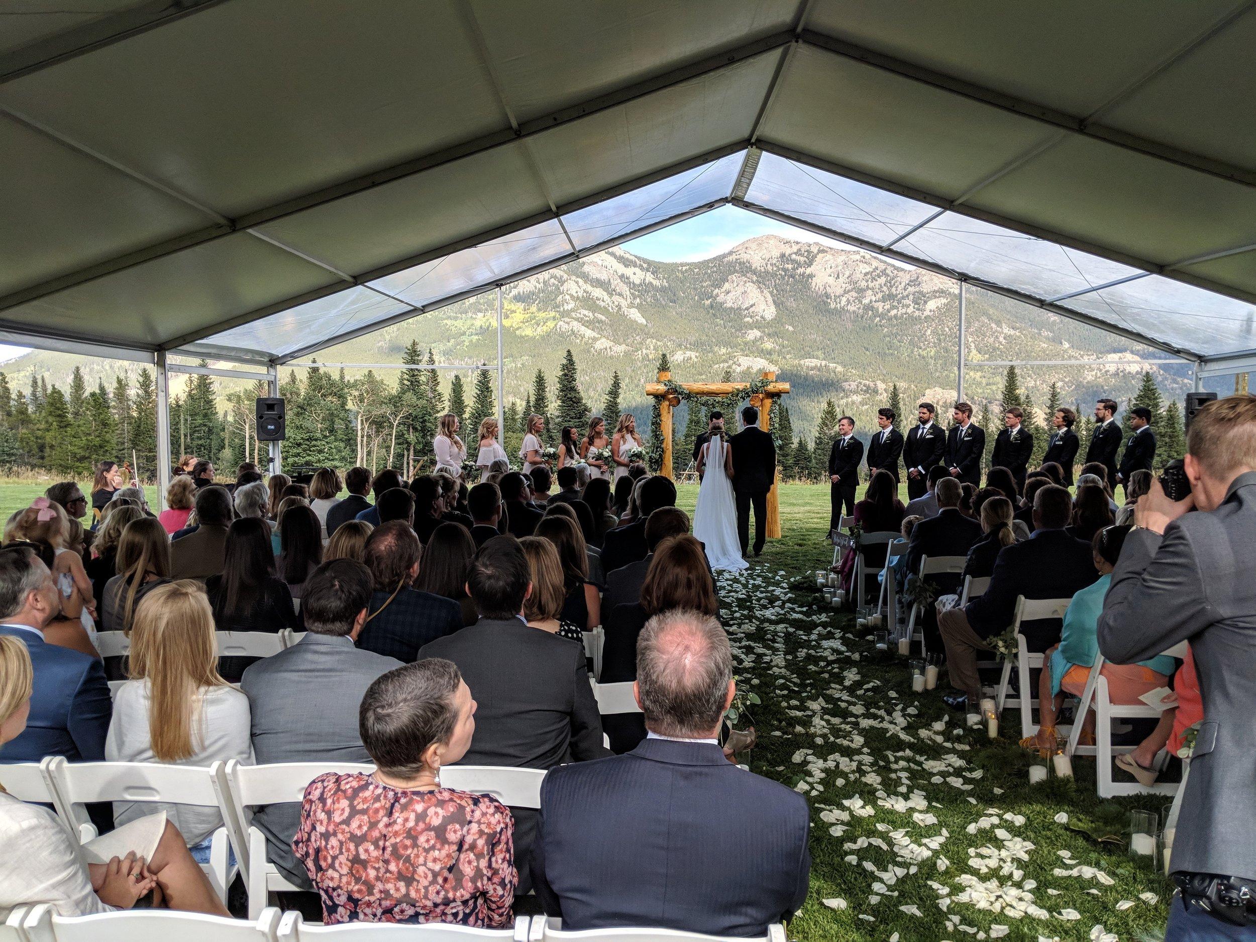 Flute quartet wedding ceremony music in estes park, Colorado