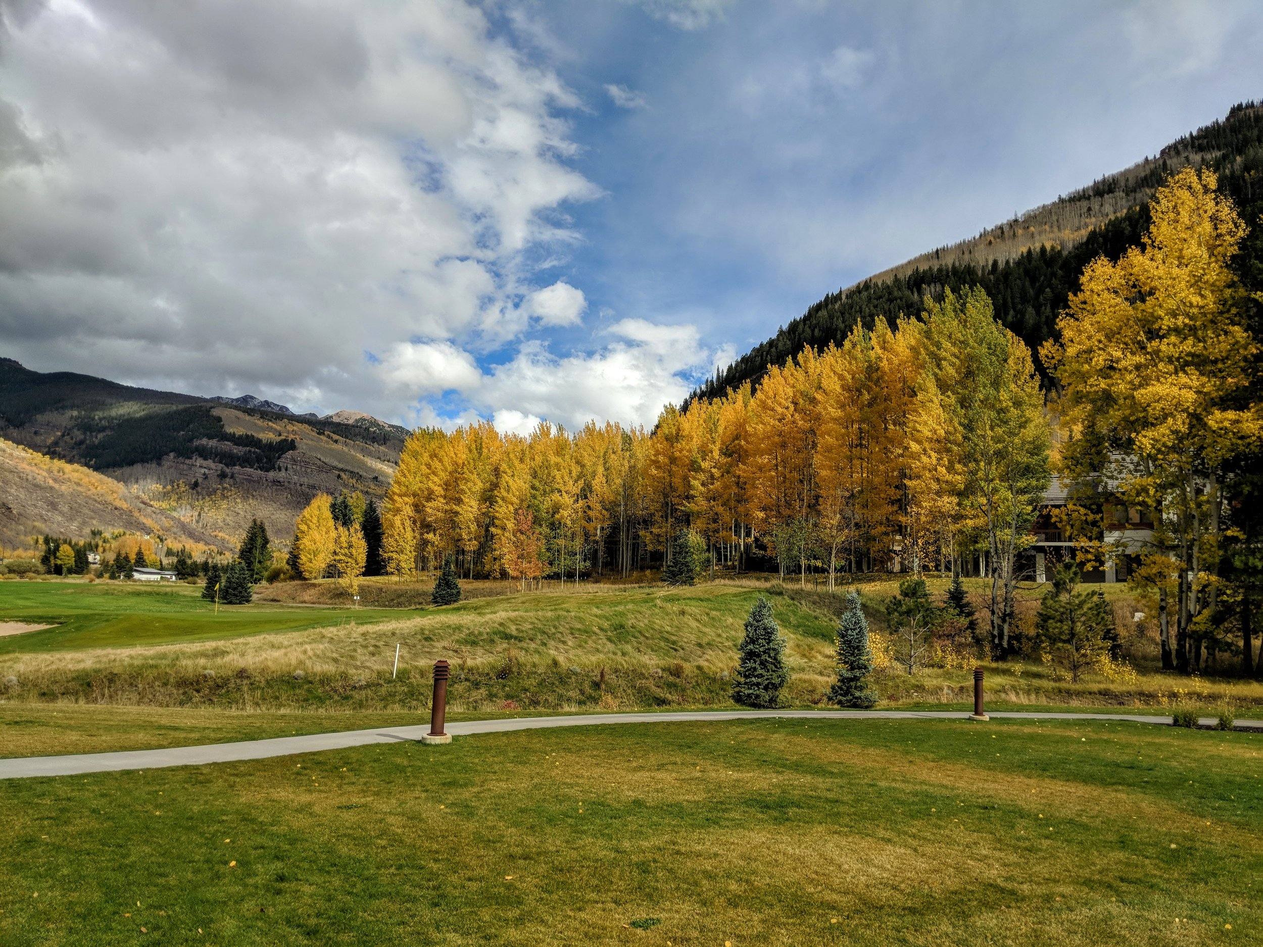 Flute and Guitar Wedding Ceremony Music at the Vail Golf Club in Vail, Colorado