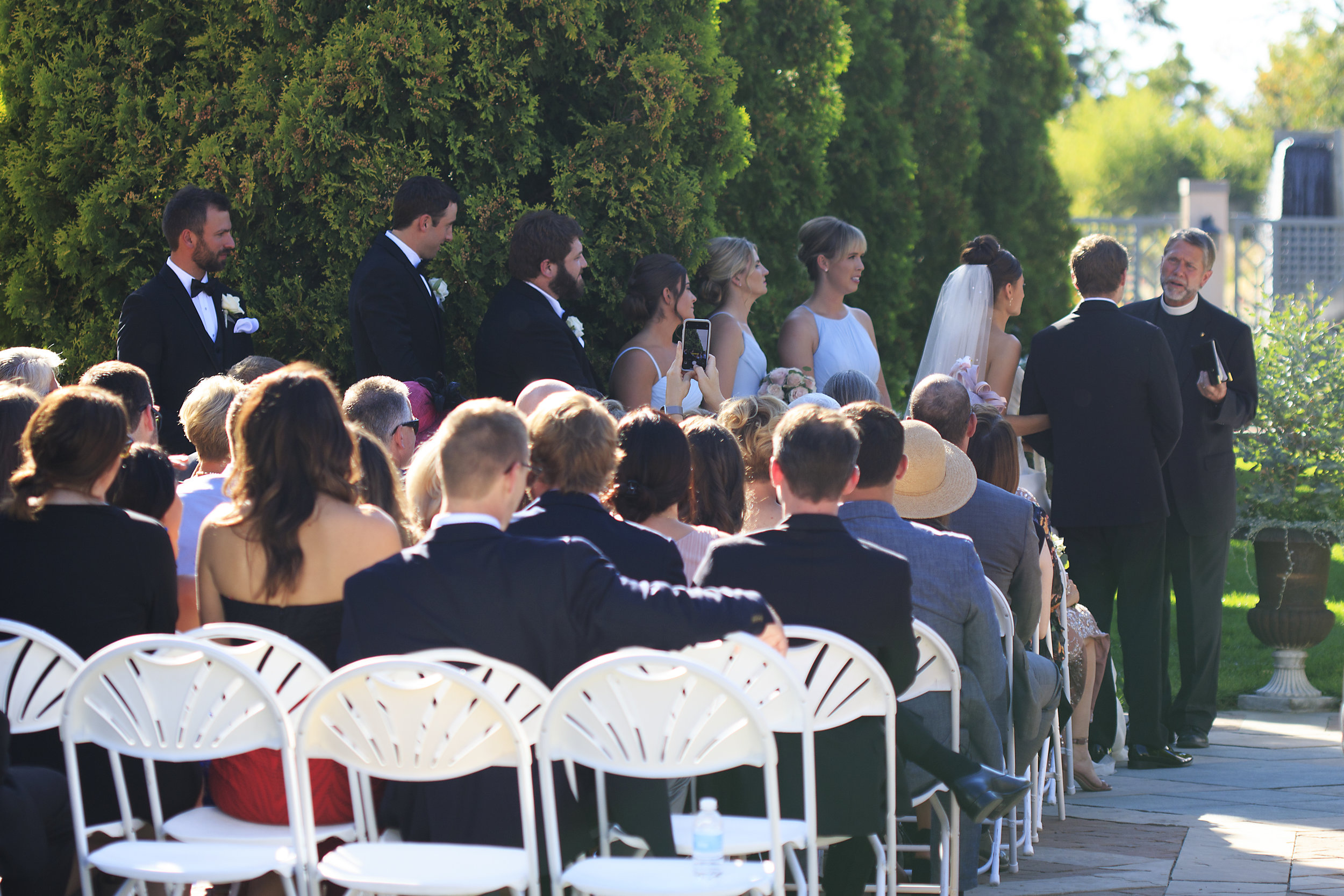 Flute and Cello Duo Wedding Ceremony Music in the Denver Botanic Gardens, Photo by LD Photogrpahy