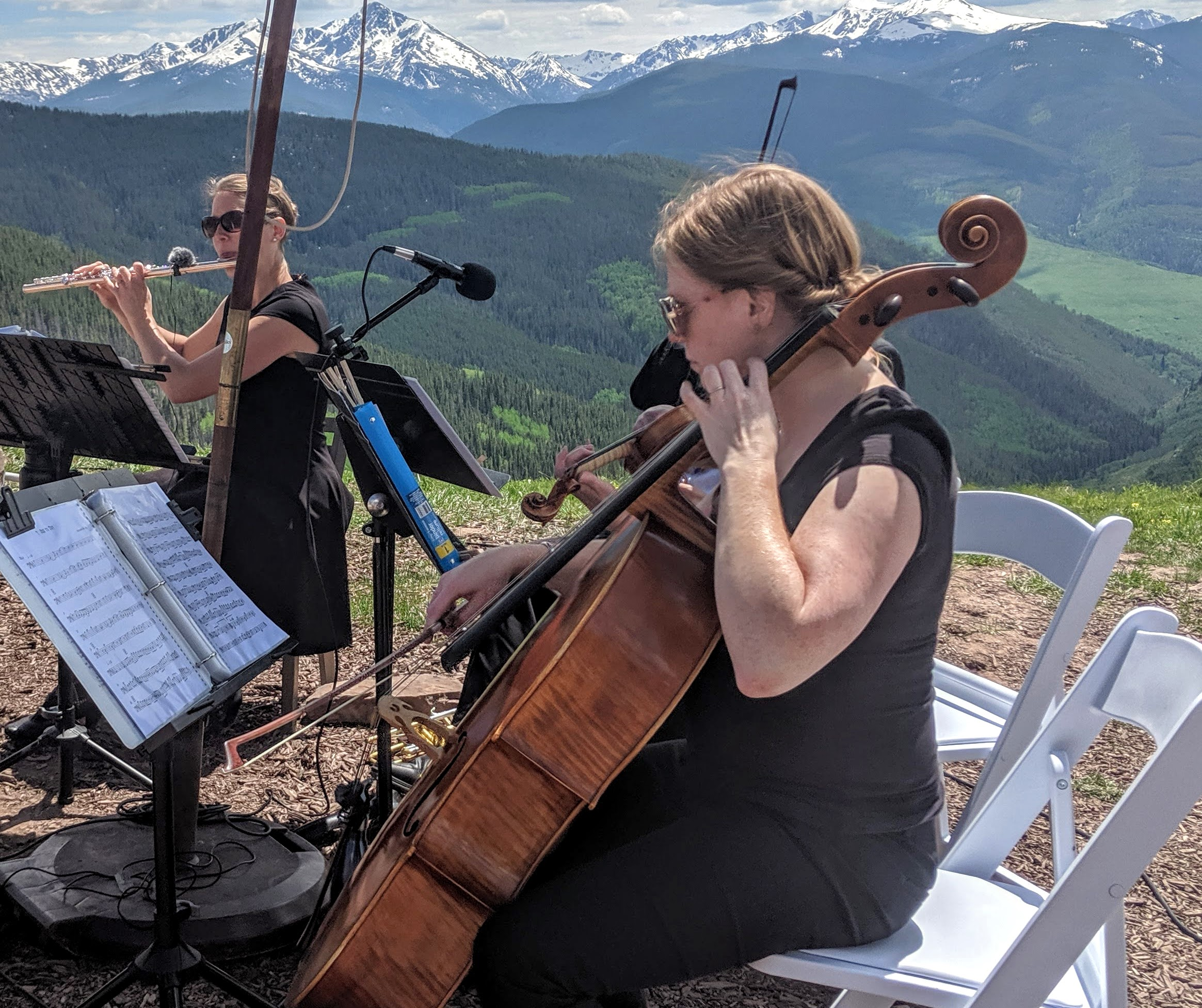 Flute and Strings by Christen Stephens, Royal Wedding Quartet, Wedding Ceremony Music in Vail, Colorado