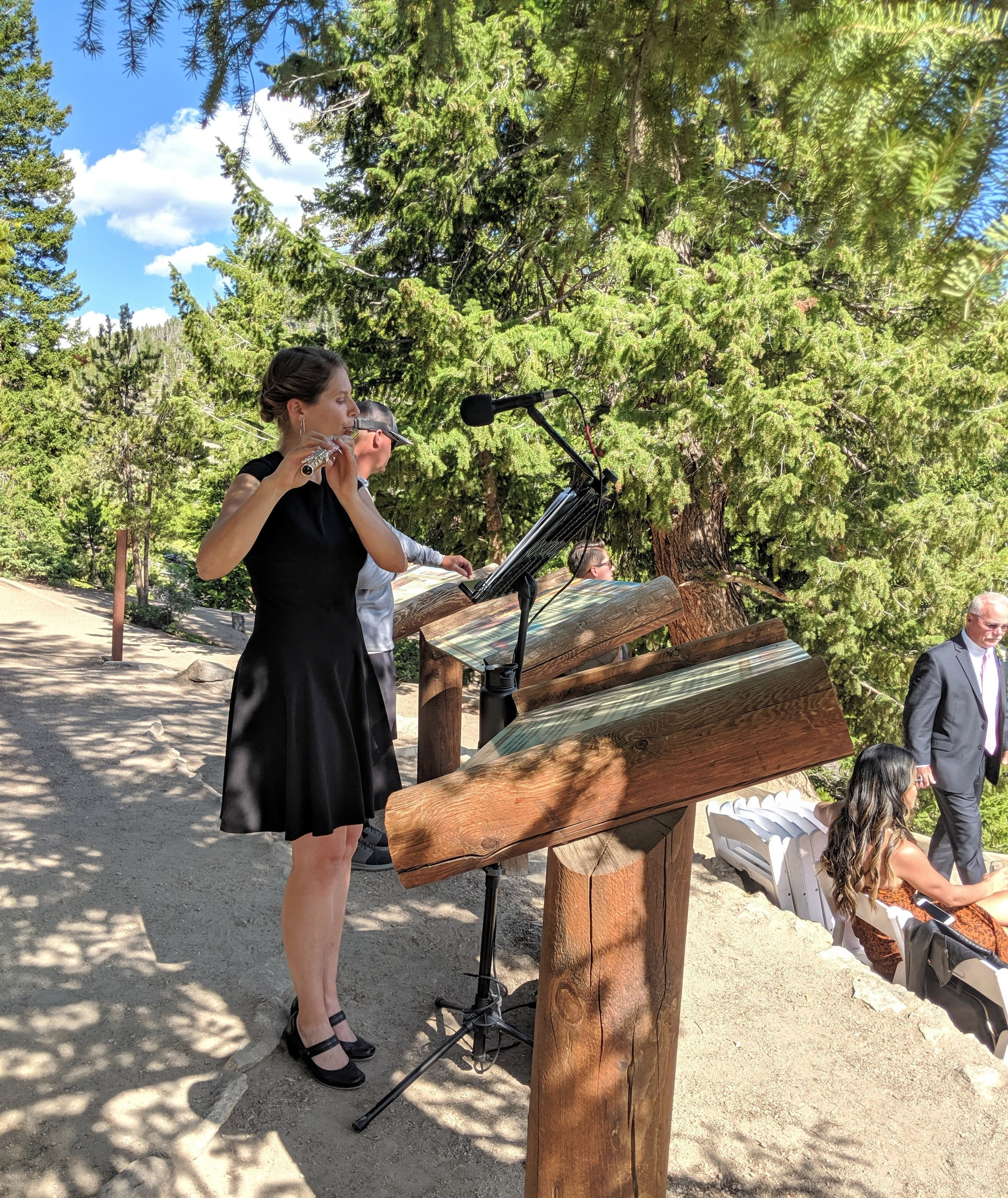 Flute and Strings by Christen Stephens,  traditional solo flute wedding ceremony music at Sapphire Point in Dillon. Colorado