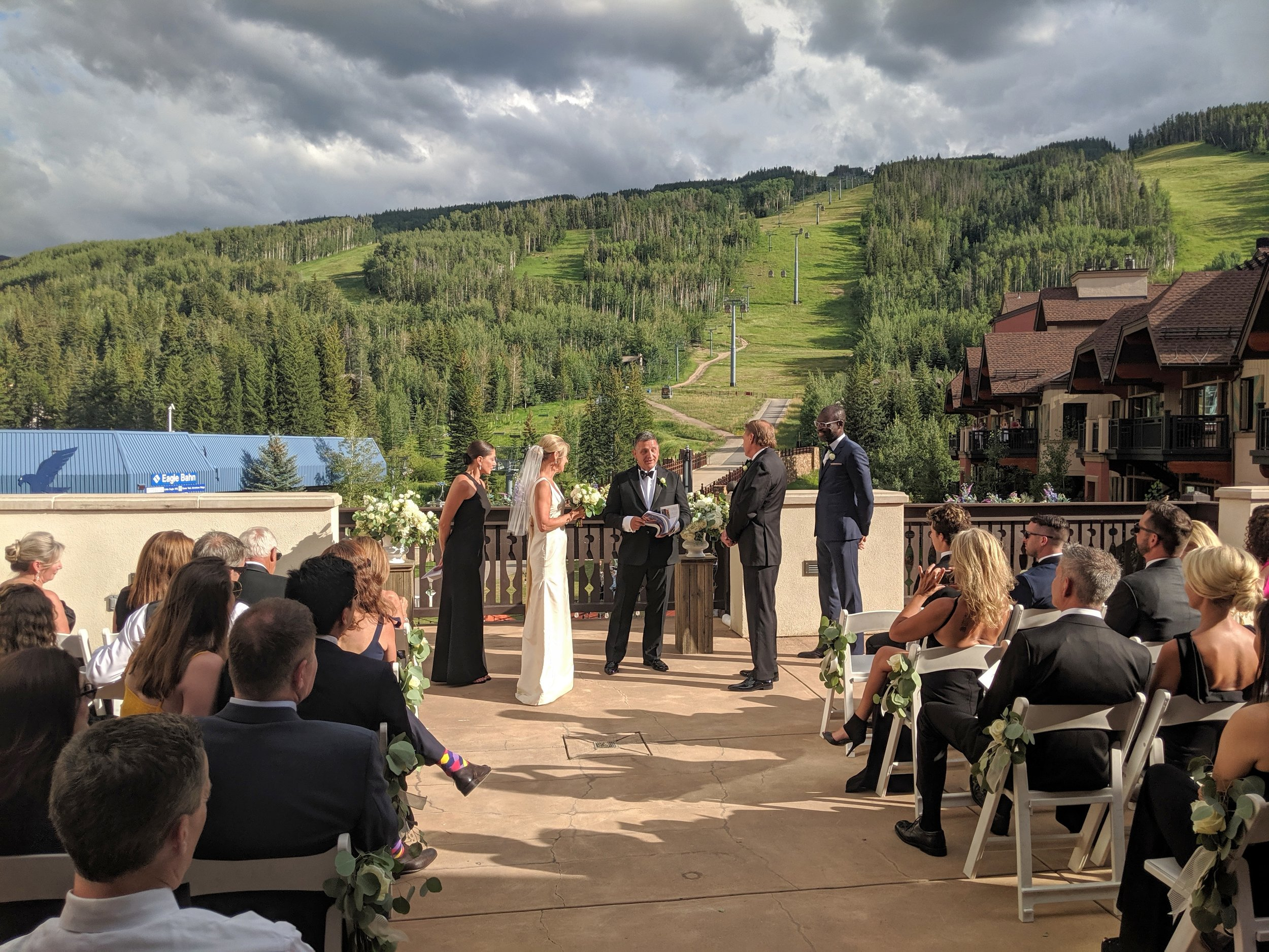 Flute and Strings by Christen Stephens, Flute and Violin Wedding Ceremony Music at the Arrabelle at Vail Square in Vail, Colorado