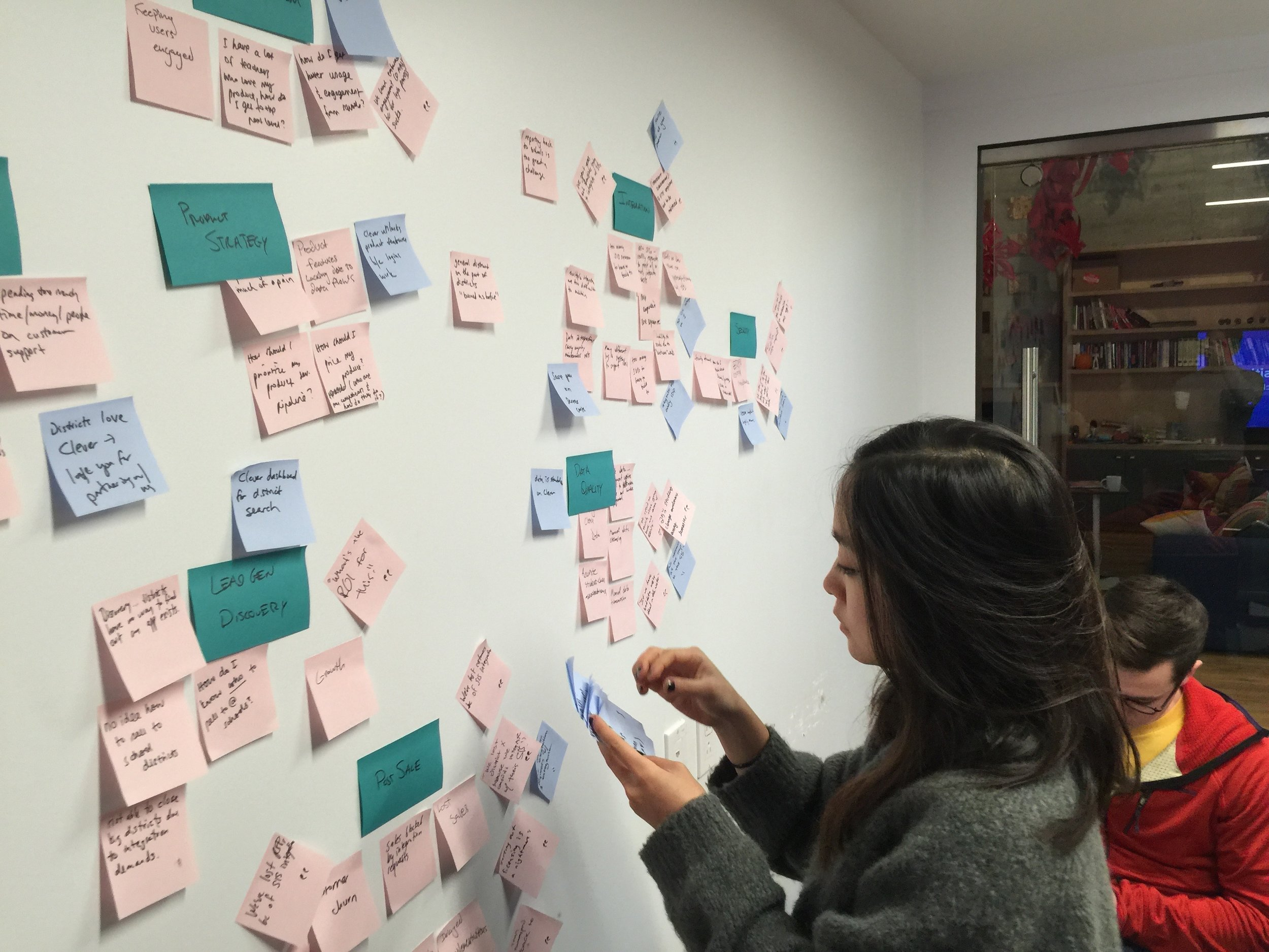facilitation - I facilitate workshops to solve complex problems and improve their processes that help teams clarify goals, highlight gaps and opportunities in existing or new processes, and turn research into actionable artifacts.