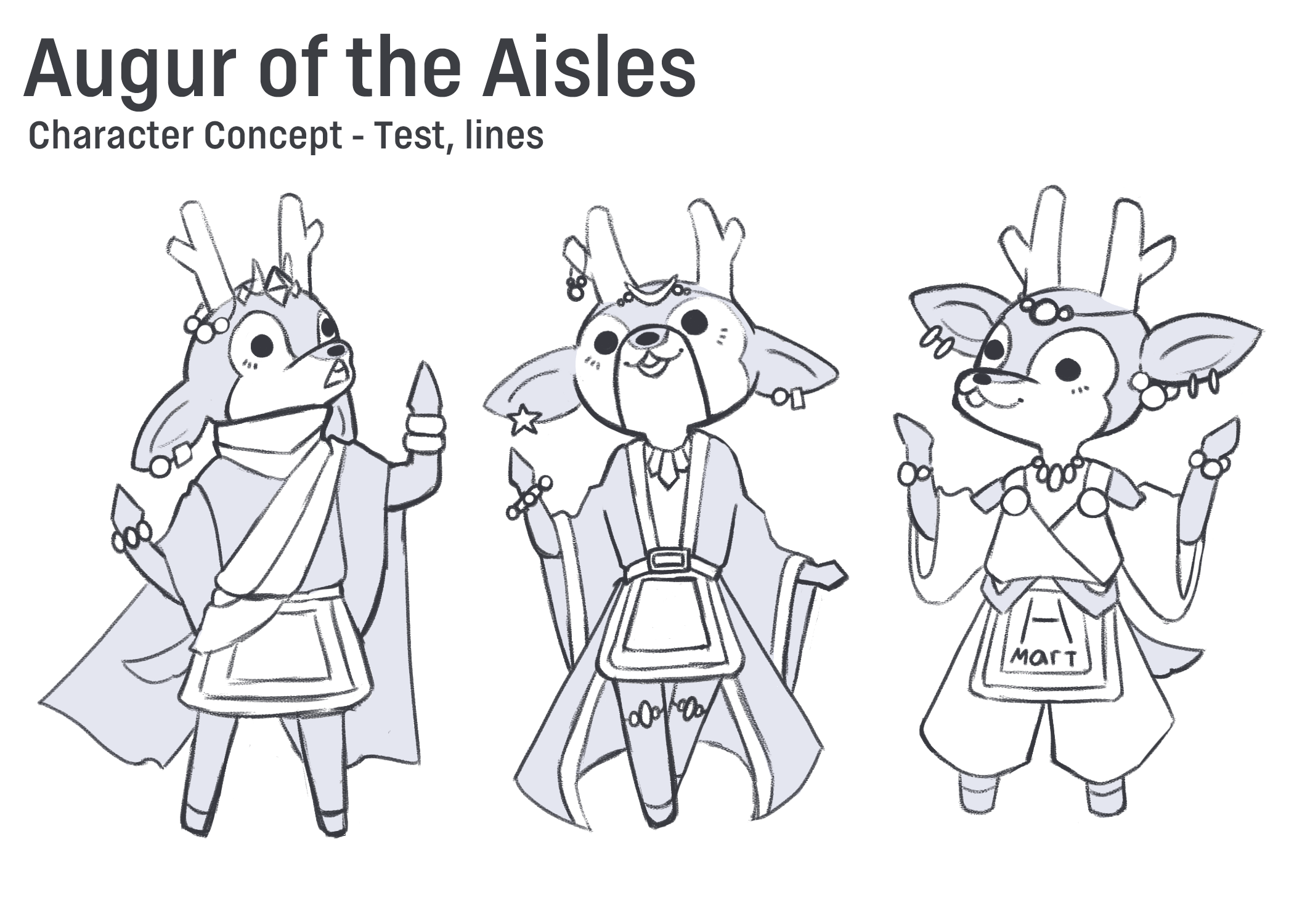 Adventure Mart Character Concept, Augur of the Aisles